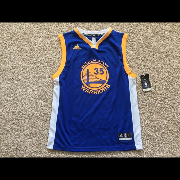 new concept f5184 a7fdc Golden State Warriors Kevin Durant youth jersey L NWT